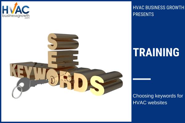 choosing keywords for hvac websites