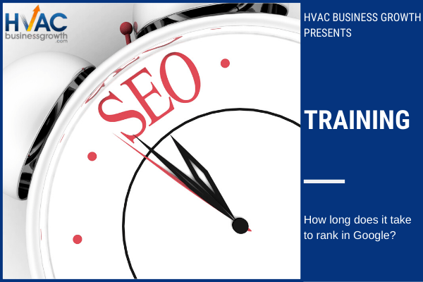 training how long does it take to rank in Google